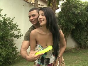 Juliana the sexy Latina gets fucked hard in a backyard