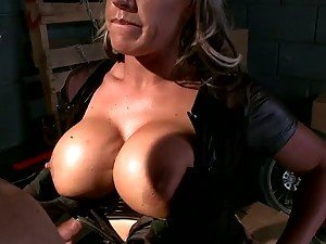 Busty Blonde Carmen Jay Leads The Twat Swat Fucking Team