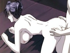 Anime milf hottie gets a cock in her asshole