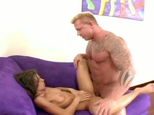 Muscled guy drills sexy latina Naomi Russell
