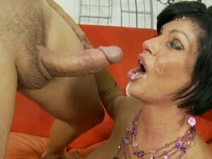Shay Fox gets her face plastered with thick dick juice