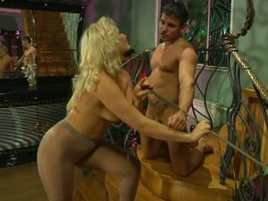 Pantyhose fetish couple flosie and govard in hardcore action