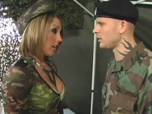 Commanding officer fucks sexy girl in uniform
