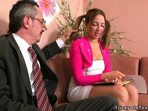 Tonya, a gorgeous blonde girl with a sexy body, seduces her boss to satisfy her needs