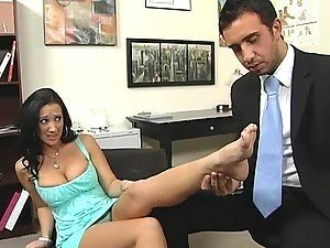 Foot Fetish Action in the Doctor's Office with Busty Slut Jayden Jaymes