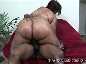 It takes a massive ebony cock to cut through all dat phat ass