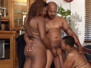 Thick and black pussies get ebony anal fucked