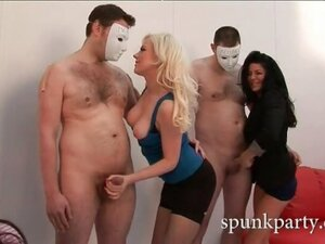 Put three horny sluts to the handjob test and you've got yourself a lovely little