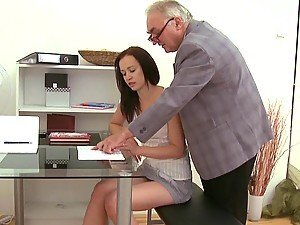 Cute and hot Anastasia gets laid with an old professor