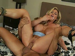 Big Breasted Blonde MILF Tyler Faith Enjoying a Big Penis