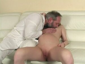 Pregnant Slim Blondie Is Fucked By Mature Dude
