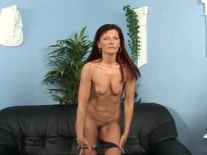 Mature redhead Doreen enjoys riding a cock after sucking it
