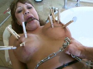 Dick-sucking babe Ava Devine being drilled in bdsm scene