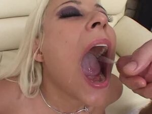 DP leads to cumshots in her mouth