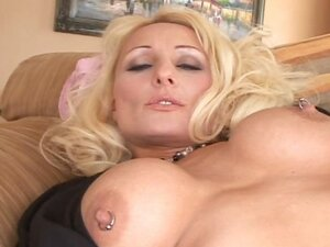 Sexy mature blonde lady with a nice perky rack gets nailed in the ass