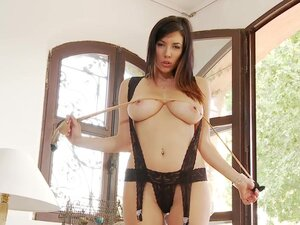 Sensual brunette Jelena Jensen in solo video