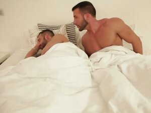 With his boyfriend soundly sleeping, and his cock throbbing, Donato Reyes reaches for his phone to text fuck friend Paddy O'Brian for a rendez-vous.  Paddy shows up and the action begins with a whisper: