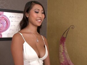 Asian Sharon Lee is riding on the hard dick