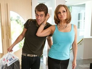 Miss Bardoux the beautiful MILF cougar takes a young man into her home for some fun.