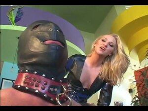 Dominatrix facesitting and smothering in lingerie and latex