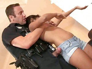 Ruby Rayes will do anything to get out of a ticket by sucking off the cops huge staff