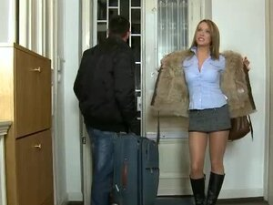Pantyhose girl makes him rock hard