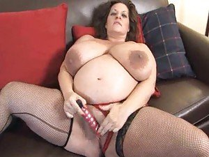 Chubby pregnant girl with huge tits