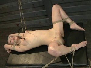 Sizzling Lily Luvs gets tied up & her nipples pinched