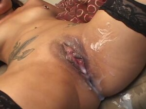 Awesome Asian In Fishnet Tights Gets Dicked Real Good