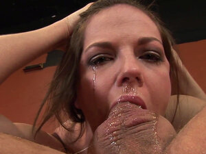 Experienced vixen is sucking huge phallus