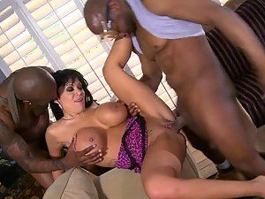 Interracial Double Team For The Horny Brunette Cougar Sienna West