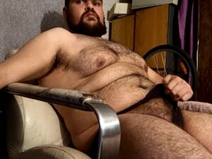 Chubby bear masturbating until ejaculation