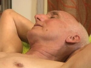 Grandpa  Gets A Massage With Happy Ending By His Young Masseur
