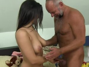 Tiana the sexy brunette girl takes big old dick in her pussy