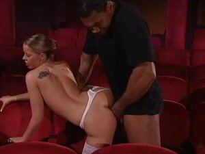 Mind blowingly hot girl fucked in a theater