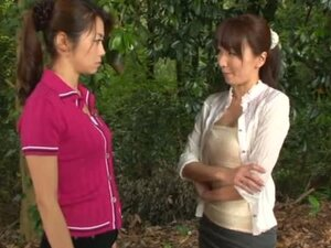 Beautiful Shiho and Maki in hot Japanese lesbian action
