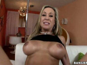 This hot blonde MILF is riding that big bone and goes doggy style