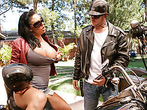 Jordan's college biker buddy Scott has been staying at his house for the past two months. Mason, Jordan's wife, digging his biker style, decides to take a ride with him on his motorcycle. Did we say motorcycle?? We meant his huge cock!! When Jordan comes