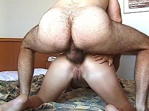Hairy Old Man Fucking a Spectacular Brunette Teen on Every Hole
