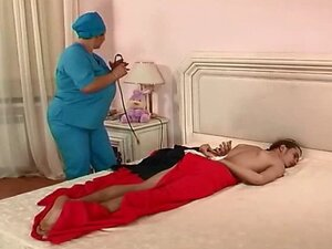 chubby mature russian nurse and her patient