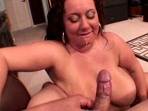 Big jugged BBW redhead sexbomb gives sloppy blowjob - POV