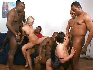 Cute interracial whores love it rough 1