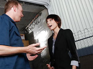 Zoe Voss is working on the weekend and ran into the delivery guy she usually only sees during the week. She needs to keep the company together and he needs some extra cash, so they find themselves alone on the loading dock. It's not like they haven't thou