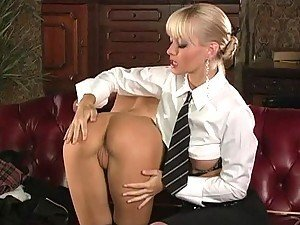 Stunning Blonde Lesbians Cytherea and Jana Cova Have Fun With Sex Toys