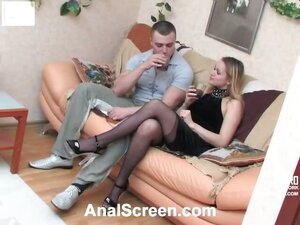 Freaky babe getting out of control drinking before steamy anal fuck fest