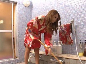 Asian Housewife Gets Fucked In the Bathroom By Her Horny Husband