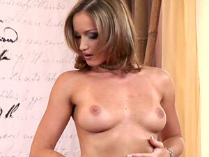 Kathia Nobili fingering her shaved pussy with pleasure