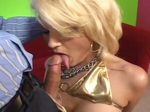 Extreme anal submission with tied busty blonde cum eating slut