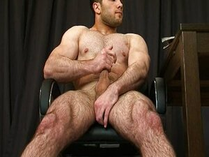 Hairy Tom wanking