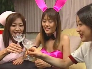 Japanese babes in group asian orgy